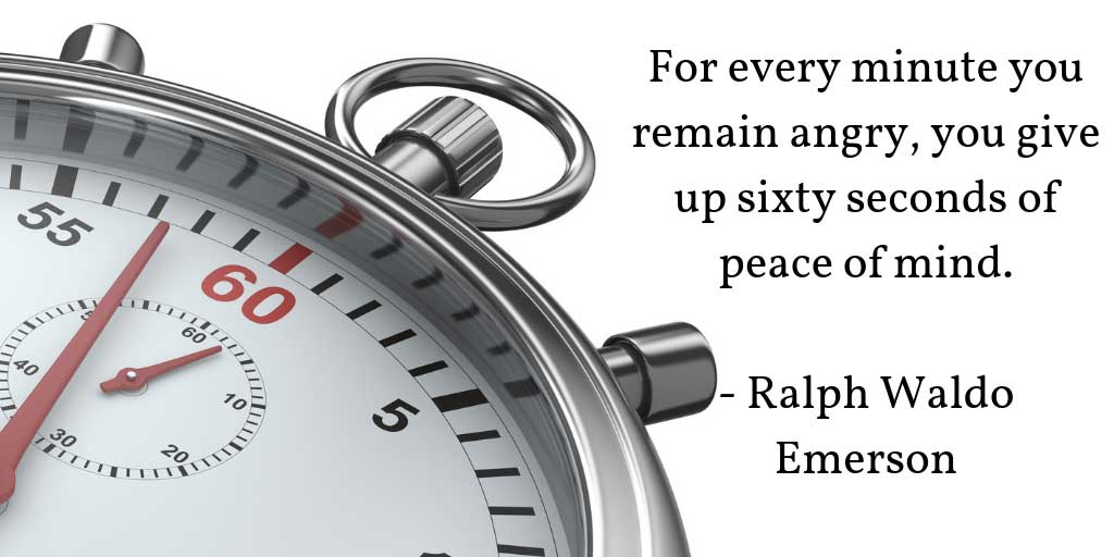 ralph waldo emerson anger quote