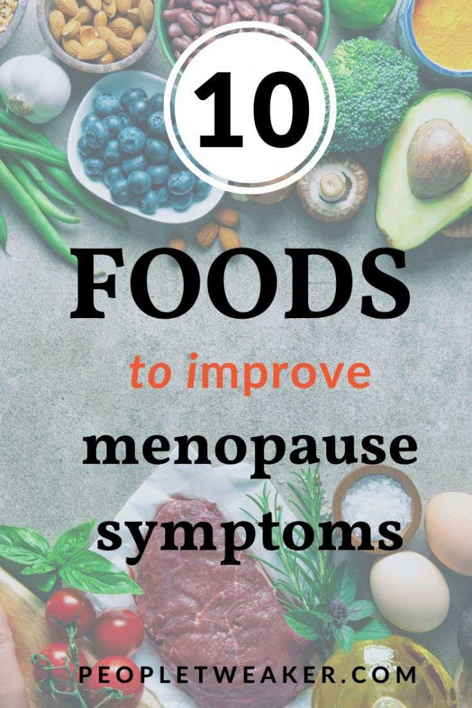 10 foods to help menopause symptoms