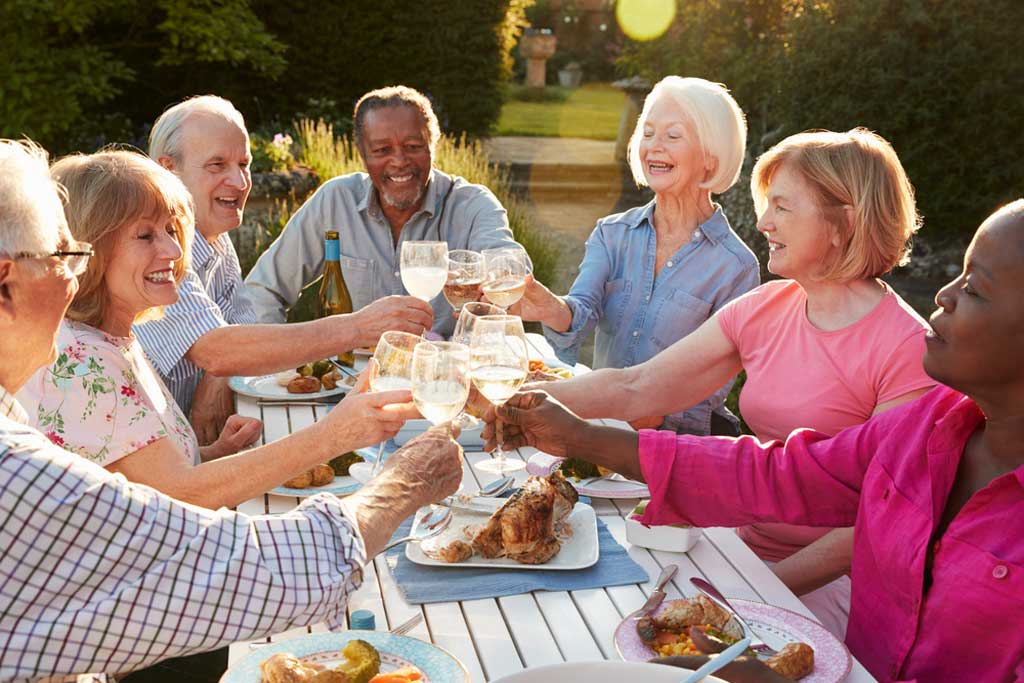 social support helps you age gracefully