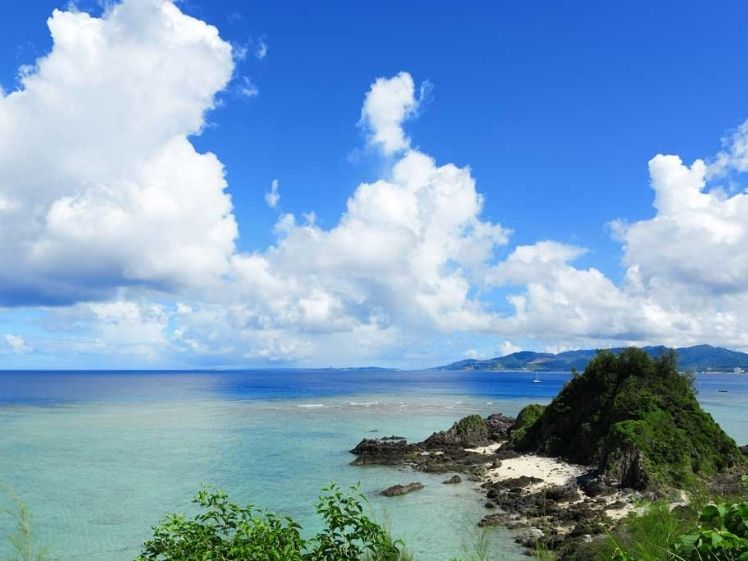 Ocean in remote Blue Zone