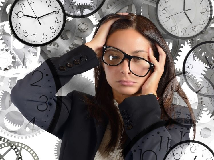 stressed woman with not enough time in her day